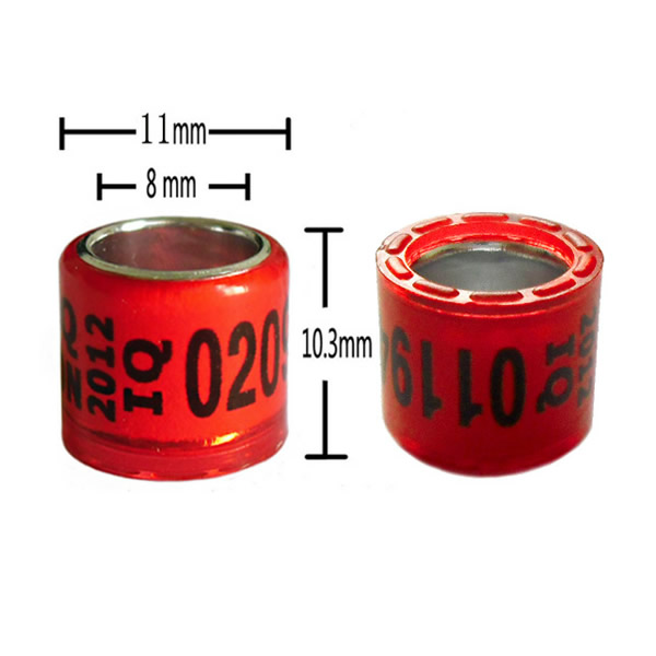 8mm Aluminium core with plastic coat rings with crown
