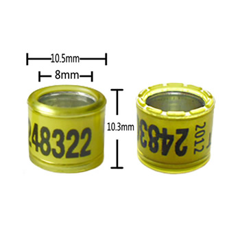 8mm Aluminium Core with Plastic Coat Rings with Crown(OD10.5)
