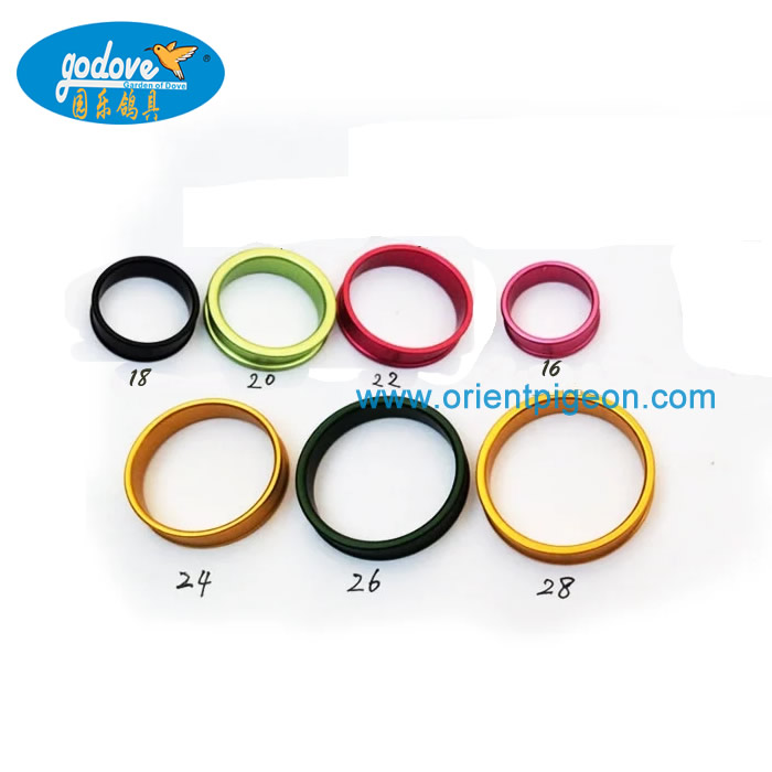 Edge Roll Aluminium Pigeon/ Big Bird Ring 17-28mm