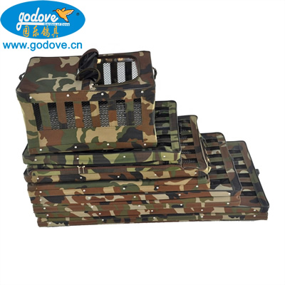 Foldable Metal with Canvas Transportation Cage(Camouflage color)