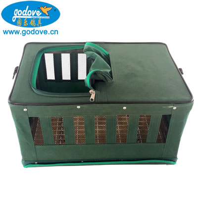 Foldable Metal with Canvas Transportation Cage(Army green color)