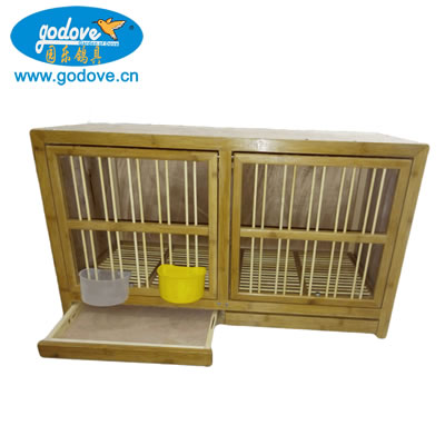 Foldable Male and Female Wooden Cage