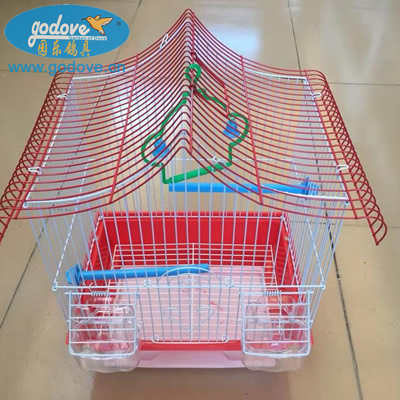 Foldable Bird Metal Cage with Feeder